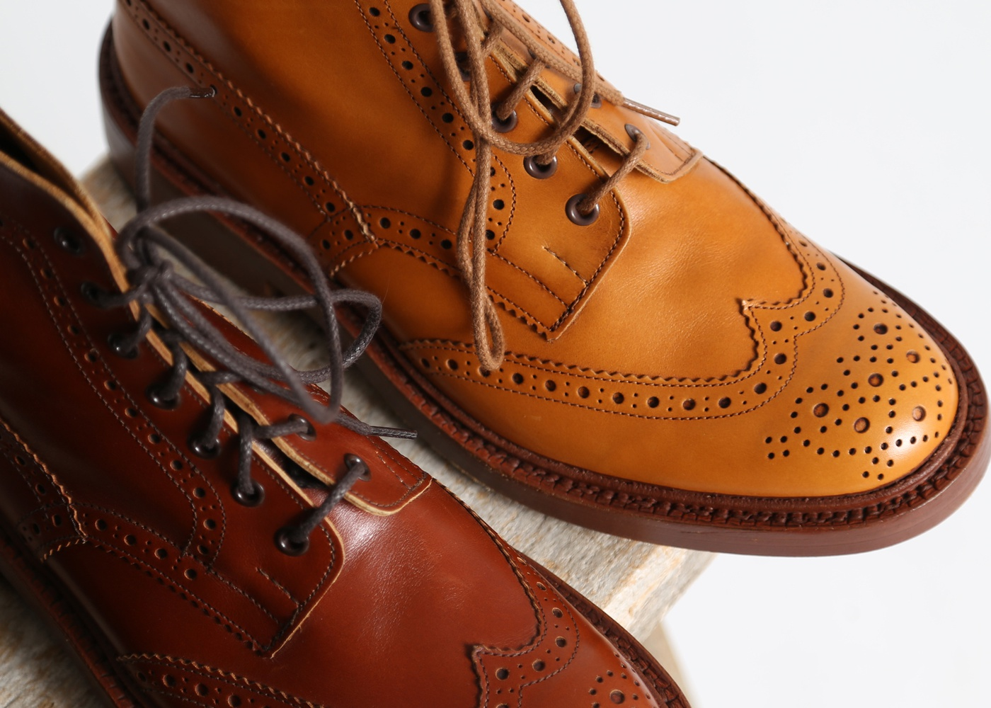 Men's Tricker's Marron Antique Brogue Boot nyc