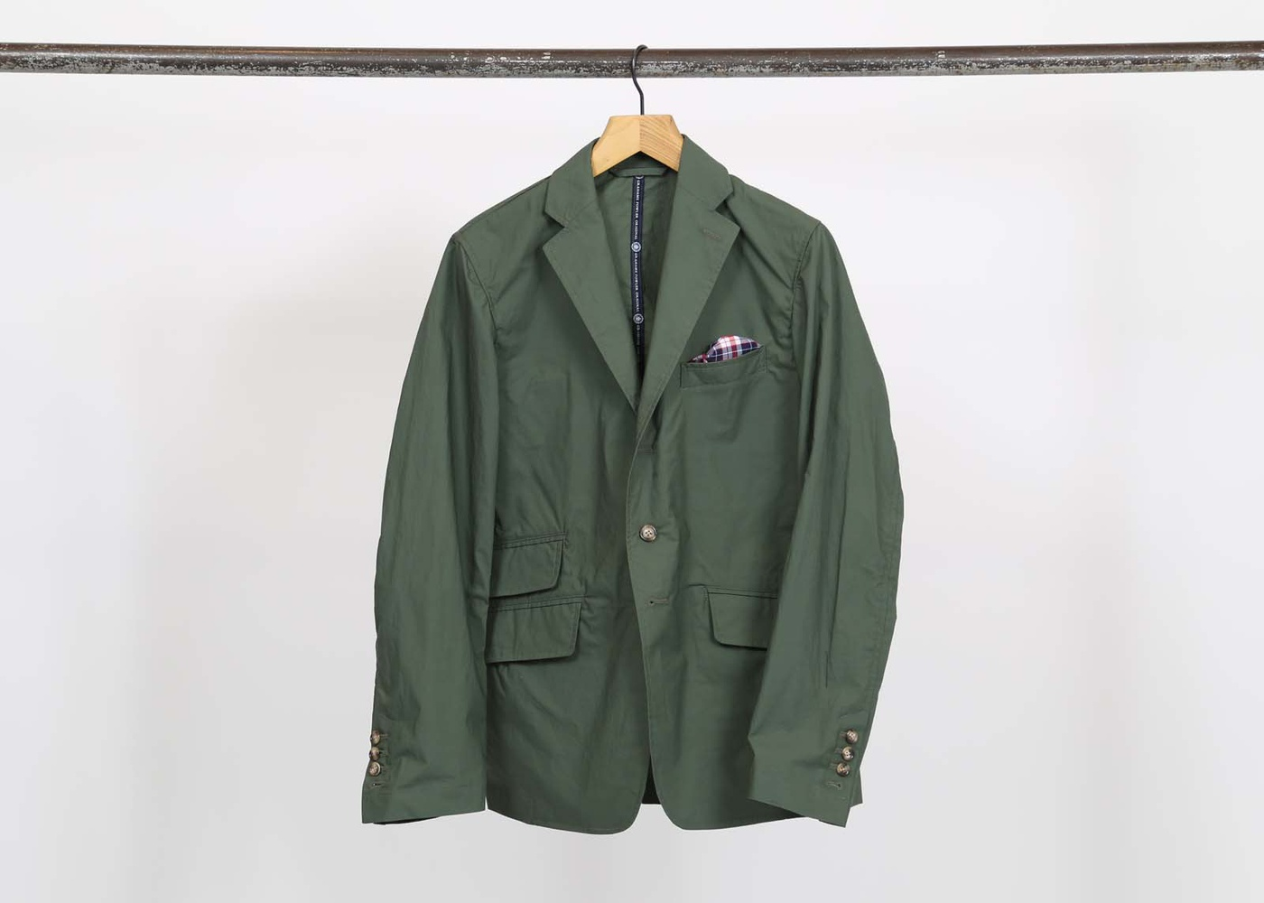 Grahame Fowler Green Weekend Travel Suit Jacket nyc