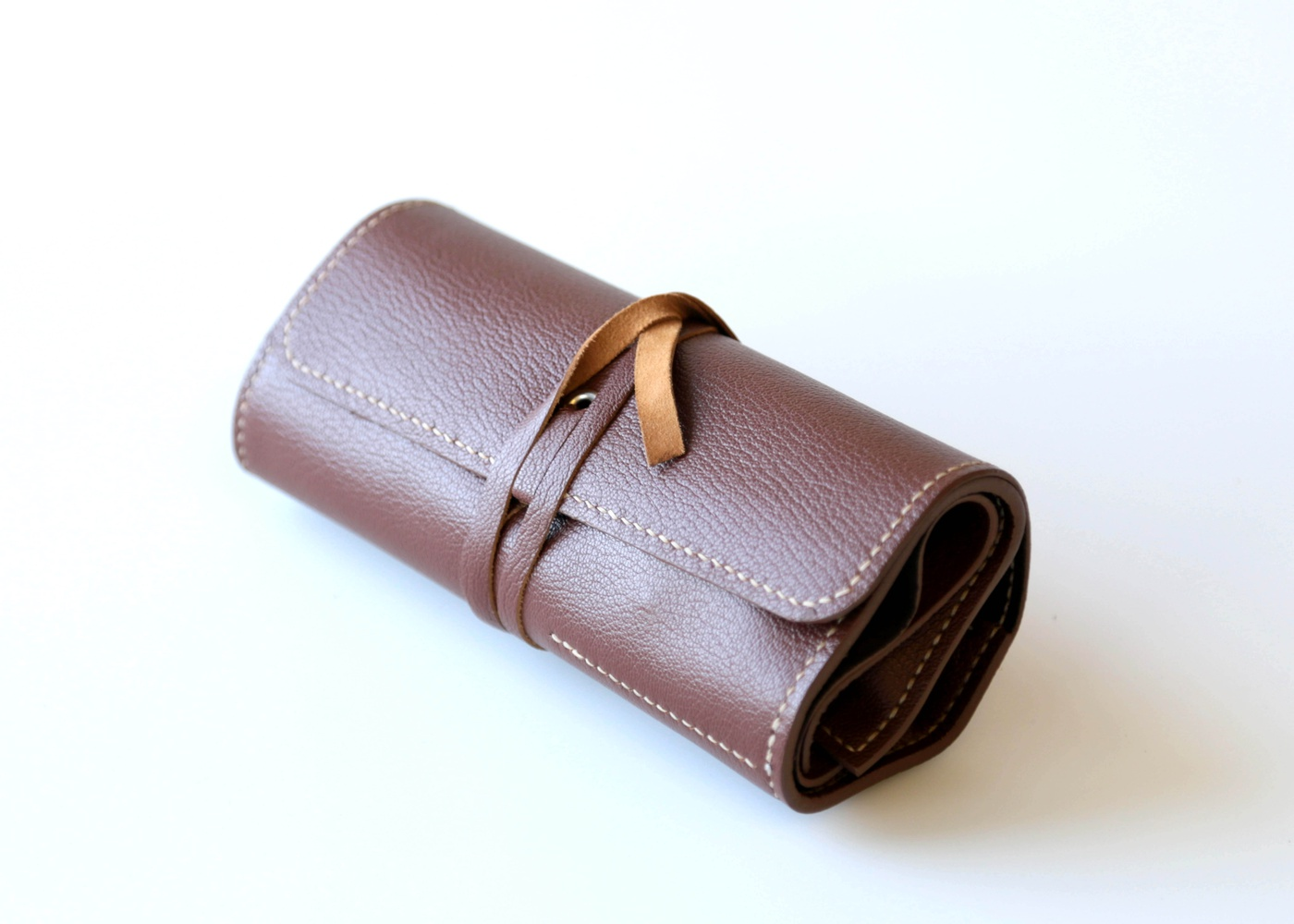 THREE POCKET WATCH ROLL MID TAN  nyc