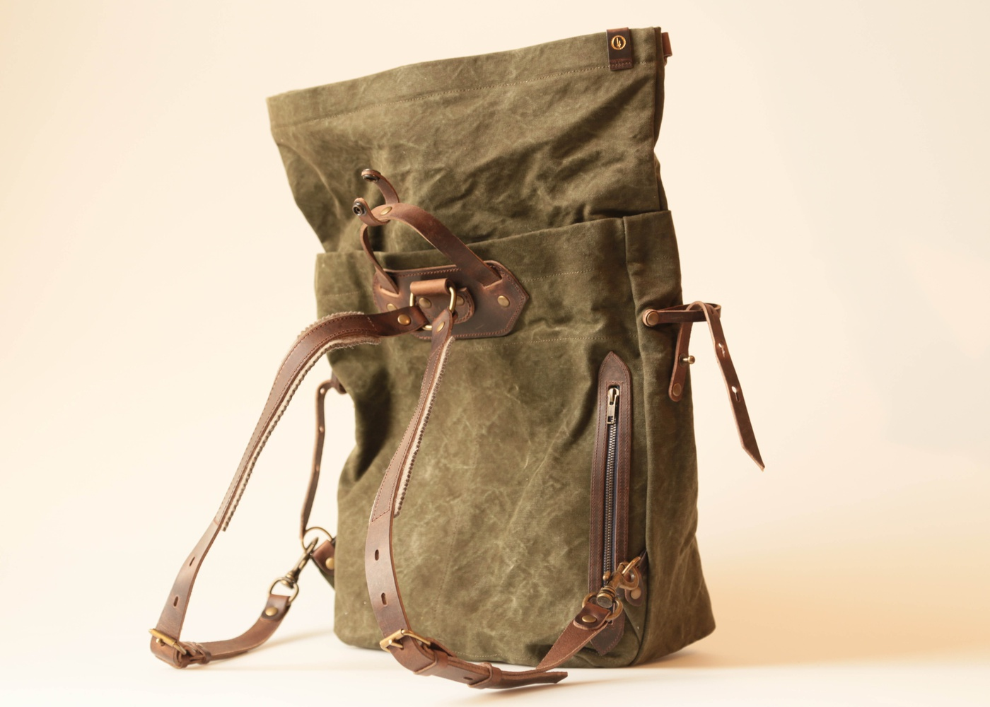 WOODY BACKPACK khaki stonewashed nyc