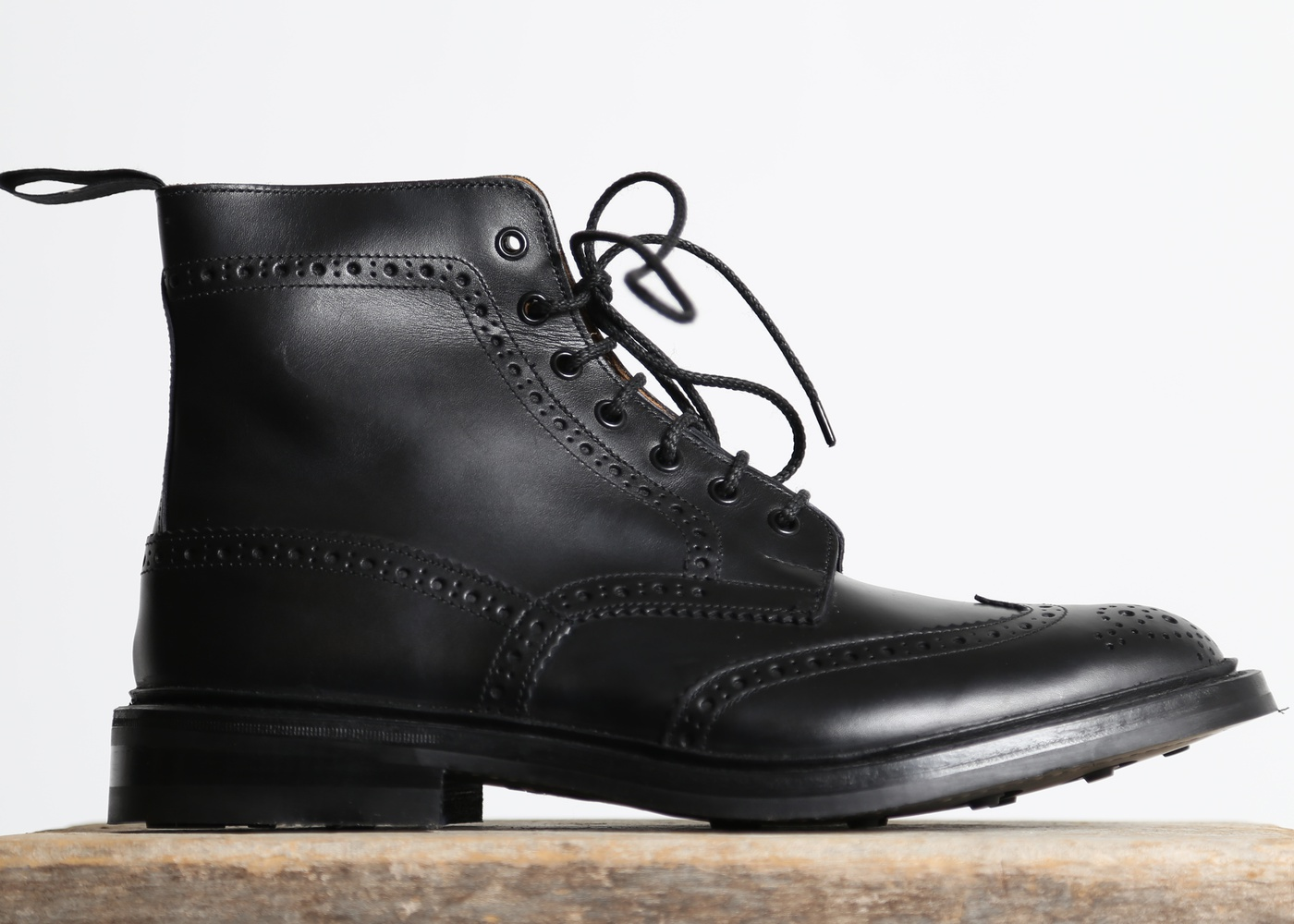 Men's Trickers Black Calf Stow With Dainite Sole nyc